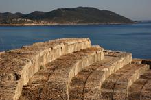 Blick vom Amphitheater in Kaş, Lykische Küste der Türkei