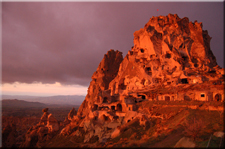Photo: Sunset at Uçhisar Castle in Cappadocia, Turkey