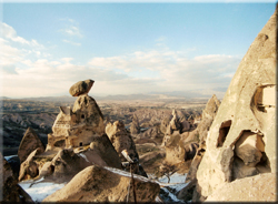 Photo: Sapka Kale of Uchisar Castle in Cappadocia, Turkey
