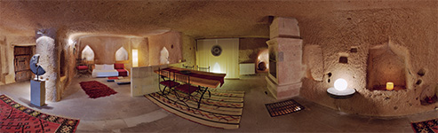 360 Degree Bowl Panorama Photos - ASMALI CAVE HOUSE and VILLA YAKOMOZ  from a different angle