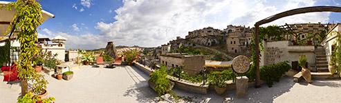 Kugelpanorama Terasse der Suite Asmali Odalar - Höhlenhotel ASMALI CAVE HOUSE, Kappadokien-Türkei