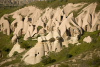 Image: Famous Pigeon Valley of Uchisar in Cappadocia, Turkey. Home of ASMALI CAVE HOUSE - small Cave Hotel