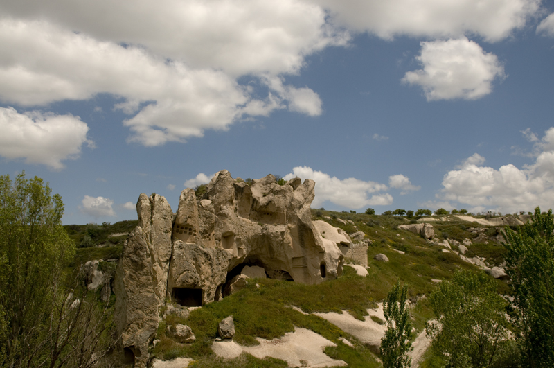 Image: Ruins of Gomeda in one of the beautiful Valleys of Cappadocia in the heart of Turkey