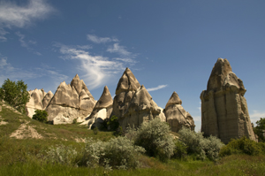 Image: Love Valley in Cappadocia with unusual stone formation. Cappadocia in Turkey - Home of Cave Hotel ASMALI CAVE HOUSE
