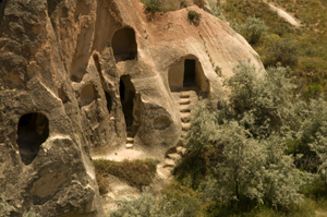 Image: Pancarlik Monastery and Valley in Cappadocia, Turkey