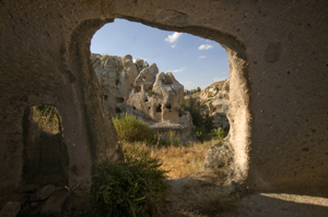 Image: Ruins of Gomeda in Cappadocia, Turkey