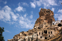 Image: Ortahisar Castle in Cappadocia - in the heart of Turkey