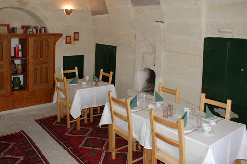 Breakfast room of ASMALI CAVE HOUSE Boutique & Cave Hotel in Cappadocia, your holiday home in Turkey