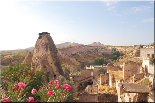 View from the terraces of ASMALI CAVE HOUSE Boutique & Cave Hotel in Cappadocia, your holiday home in TurkeyAsmalı Cave House