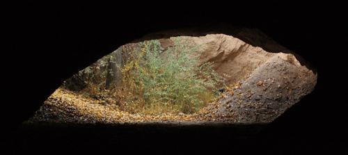 Foto: Tunnel im Tal der Tauben in Uchisar, Kappadokien - Feen und Geister in Kappadokien