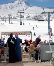 Foto: Skifahren am Berg Erciyes in Kappadokien, Türkei