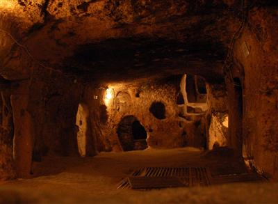 Die unterirdische Stadt Kaymakli in Kappadokien