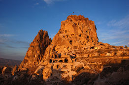 Photo: Uchisar Castle, with 1300m the highest point of Cappadocia in Turkey
