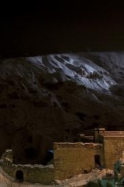 Foto: Nachtblick von der Terasse der Suite Asmali Odalar bei Nacht - Kleines Höhlenhotel ASMALI CAVE HOUSE  in Kappadokien, Türkei