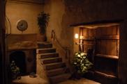 Foto: Innenhof der Suite Sirahane ASMALI CAVE HOUSE Kleines Höhlen Hotel in Kappadokien, Türkei