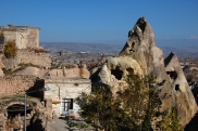 Image: Aşağı Mahalle - The historic part of Uchisar in Cappadocia, Turkey
