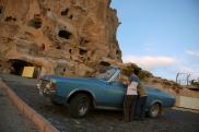 Foto: Das Dorf Uchisar - Burgberg - in Kappadokien, Zentral-Anatolien Türkei / Uchisar Castle