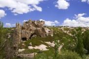 Foto: Die Ruinen von Gomeda in Kappadokien, Türkei | Photo by Evelyn Kopp, Höhlenhotel Asmalı Cave House
