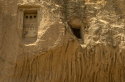 Foto: Das Dorf Cavusin | Wandmalerie der Taubenhäuser  | Fotos von Evelyn Kopp ASMALI CAVE HOUSE Höhlenhotel in Kappadokien, Türkei